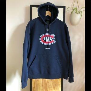 Montreal Canadiens NHL Reebok hoodie sweater